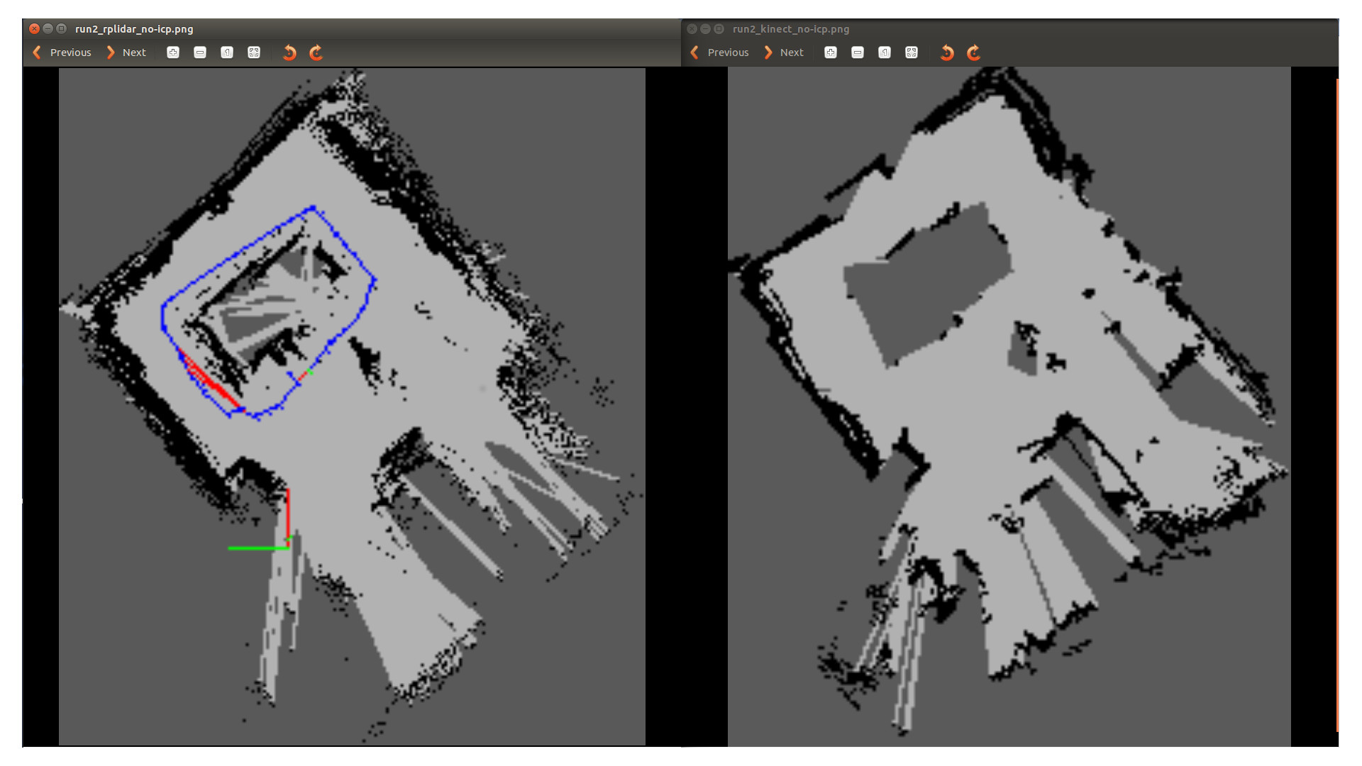 DoBots | RPlidar vs kinect's laserscan with RTabmap on turtlebot